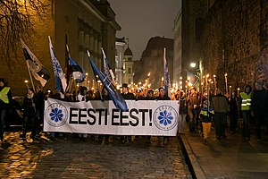 Conservative People's Party of Estonia - Image: Tõrvikurongkäik 2015