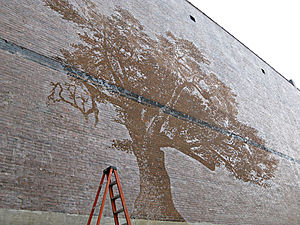 Adam Niklewicz - THE CHARTER OAK, 2012 water-mural