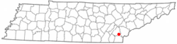 Location of Etowah, Tennessee