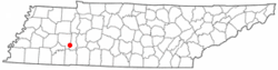 Location of Scotts Hill, Tennessee