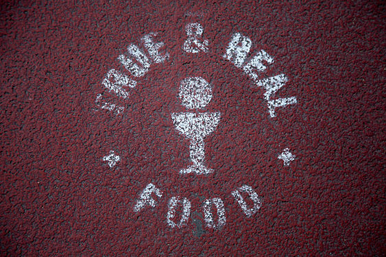 TRUE & REAL FOOD stencil graffiti in Lyon, France.jpg