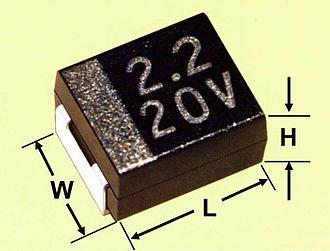 Tantalum capacitor - Dimensioning of a tantalum chip capacitor