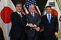 Takeshi Iwaya, James Mattis and Jeong Kyeong-doo 181019-D-BN624-011 (31543143178).jpg