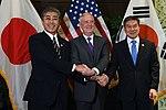 Takeshi Iwaya, James Mattis and Jeong Kyeong-doo 181019-D-BN624-011 (31543143178).jpg