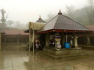 Talakaveri - Talakaveri Temple during Mansoon 2016