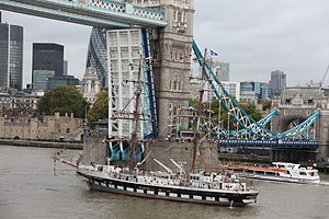 Tall Ships Youth Trust - The Stavros S Niarchos in London in 2011