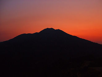 Mount Tamalpais - Sunset behind Mount Tamalpais