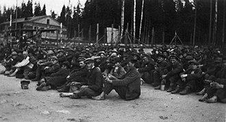 Tammisaari prison camp - Prisoners of Tammisaari in 1918
