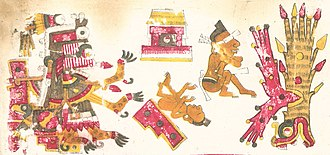 Tamoanchan - Itzpapalotl In Tamoanchan described in the Codex Borgia.