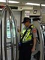 Taoyuan MRT Police in Taoyuan Metro Express Train 20170728.jpg