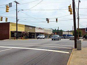 Taylorsville, North Carolina - Main Street in Taylorsville