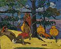 Te Arii Vahine-La Femme aux mangos (II) by Paul Gauguin, 1896.jpg
