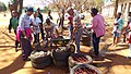 Teachers at Ramotse Primary School in South Africa use discarded tyres to make outdoor seats for pupils to use.jpg