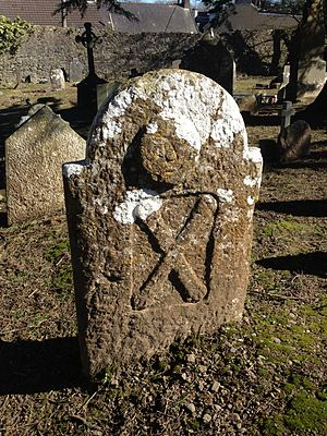 Ballintemple, Cork - Grave marker in Temple Hill burial ground