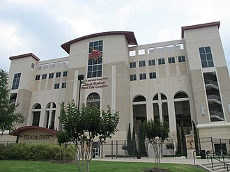 Bobcat Stadium (Texas State) -  Main Facade, 2016