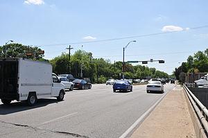 Texas State Highway Loop 12 - Image: Texas State Highway Loop 12 Northwest Highway at Dallas North Tollway toward Douglas Ave 4488 jpfagerback 2013 05 07