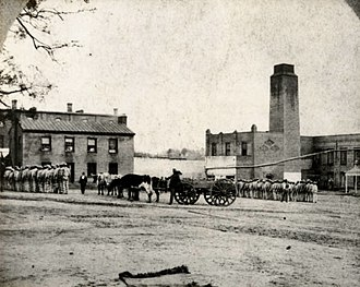 Huntsville Unit - Huntsville Unit's yard during the 1870s