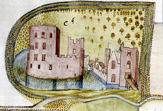 Teylingen Castle - Image: Teylingen door Symon Aentszoon van Buningen