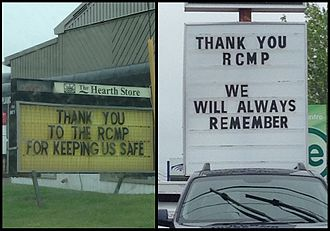 Moncton shooting - Local businesses express their gratitude for the RCMP after the suspect was apprehended