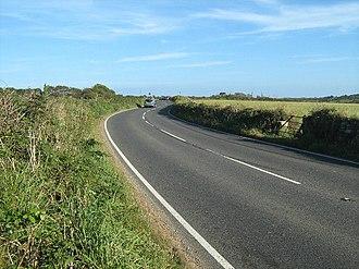 A3071 road - The A3071 near Tremayne farm