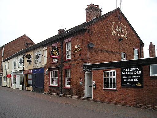 Creative Commons image of The Albion in Rugeley