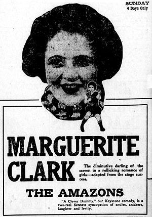 The Amazons (1917 film) - Newspaper advertisement