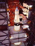 The Apollo 11 Command-and-Service Module being mated to the spacecraft adapter.jpg