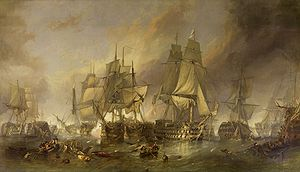 Clarkson Frederick Stanfield - The Battle of Trafalgar
