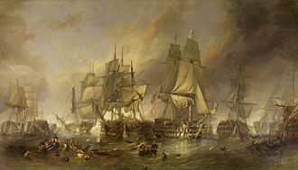 "George Augustus Westphal - ""The Battle of Trafalgar"" by Clarkson Stanfield"