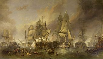 Die Schlacht von Trafalgar, William Clarkson Stanfield