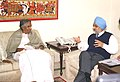 The Chief Minister of Kerala, Shri Oommen Chandy meeting the Deputy Chairman Planning Commission, Shri Montek Singh Ahluwalia to finalize Annual plan 2005-06 of the State in New Delhi on December 20, 2004.jpg