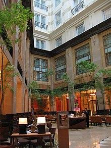 Atrium Of The Fullerton Hotel Singapore