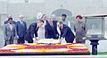 The King of Belgium laying wreath at the Samadhi of Mahatma Gandhi, at Rajghat, in Delhi.jpg