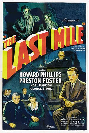 The Last Mile (play) - Poster for The Last Mile (1932)