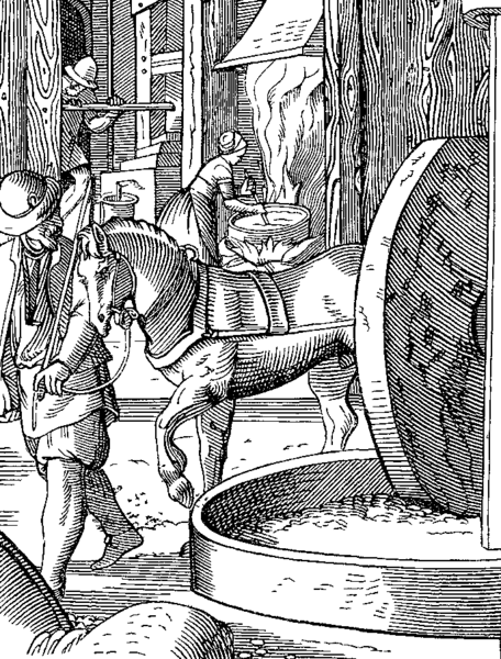 Fichier:The Manufacture of Oil drawn and engraved by J Amman in the Sixteenth Century.png