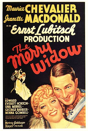 The Merry Widow (1934 film) - theatrical release poster