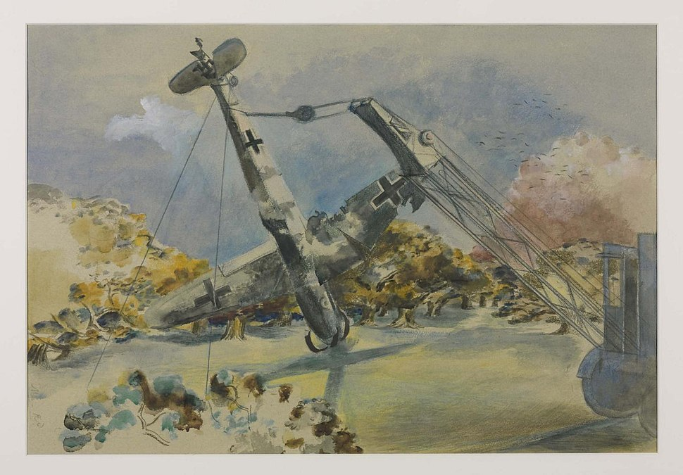 The Messerschmidt in Windsor Great Park by Paul Nash, 1940, Tate N05716