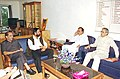 The Minister for Youth Affairs and Sports Shri Sunil Dutt and Lieutenant Governor of Delhi Shri B.L. Joshi reviewing the preparation of Commonwealth Games 2010 with Concerned officials in New Delhi on August 9, 2004.jpg