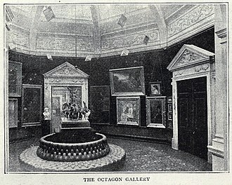 Grafton Galleries - The Octagon Gallery at the Grafton Galleries, The Graphic, 25 February 1893