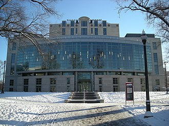 William Oxley Thompson Memorial Library - West facade, built during the 2009 renovation