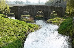 The Packhorse Bridge Anstey, crossing Rothley Brook. - geograph.org.uk - 384840.jpg