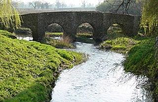 Rothley Brook stream in Leicestershire, United Kingdom