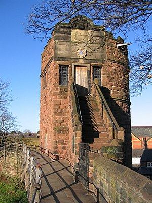 Battle of Rowton Heath - Phoenix Tower on Chester city walls, where Charles is said to have watched his army lose.