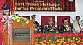 The President, Shri Pranab Mukherjee addressing the gathering at the Convocation Ceremony of Army College of Dental Sciences (ACDS), Secunderabad, in Telangana.jpg