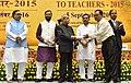 The President, Shri Pranab Mukherjee presenting the National Award for Teachers-2015 to Shri Ananta Chakrma (Tripura), on the occasion of the 'Teachers Day', in New Delhi.jpg