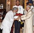 The President, Shri Pranab Mukherjee presenting the Padma Vibhushan Award to Dr. K.J. Yesudas, at the Civil Investiture Ceremony, at Rashtrapati Bhavan, in New Delhi on April 13, 2017.jpg