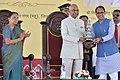 The President, Shri Ram Nath Kovind at the 127th Birth Anniversary Celebration function of Babasaheb Dr. B.R. Ambedkar, at Mhow, in Madhya Pradesh.jpg