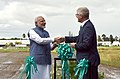 The Prime Minister, Shri Narendra Modi at the ground breaking ceremony for resilient rice field laboratory, at the International Rice Research Institute (IRRI), in Los Banos, Philippines on November 13, 2017 (2).jpg