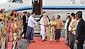 The Prime Minister, Shri Narendra Modi being received on his arrival at Bagan, Myanmar on September 06, 2017.jpg
