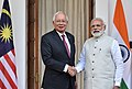 The Prime Minister, Shri Narendra Modi with the Prime Minister of Malaysia, Dato' Sri Mohd Najib Bin Tun Abdul Razak, at Hyderabad House, in New Delhi on April 01, 2017 (1).jpg
